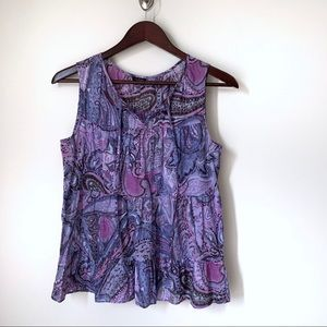 Talbots Purple Cotton Tank